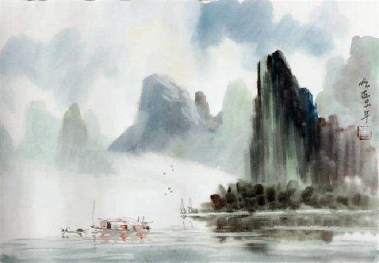 Pity, asian watercolor art can not